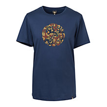 Buy Pretty Green Riley Print T-Shirt, Navy Online at johnlewis.com