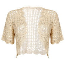 Buy Jacques Vert Crochet Cover Up, Cream Online at johnlewis.com