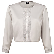 Buy Ariella Carine Lace Trim Jacket, Silver Online at johnlewis.com