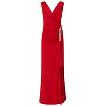 Buy Ariella Celina Jersey Long Dress With Trim, Red Online at johnlewis.com