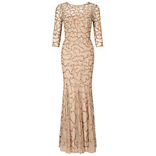 Buy Ariella Indi Long Beaded Dress, Gold Online at johnlewis.com