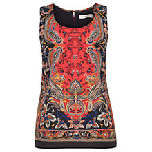 Buy Oasis Paisley Placement Vest Top, Multi Online at johnlewis.com
