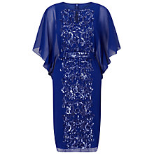 Buy Ariella Endra Batwing Beaded Dress, Blue Online at johnlewis.com