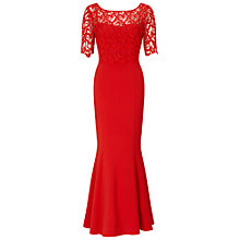 Buy Ariella Seren Lace Crop Dress, Red Online at johnlewis.com