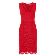 Buy Oasis Cowl Neck Lace Pencil Dress Online at johnlewis.com