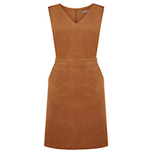 Buy Oasis Suedette V-Neck Dress, Tan Online at johnlewis.com
