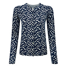 Buy Pure Collection Animal Print Cashmere Printed Cardigan, Blue Online at johnlewis.com