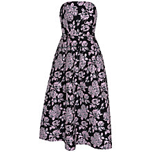 Buy True Decadence Floral Jacquard Dress, Black/Pink Rose Online at johnlewis.com