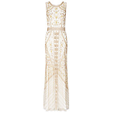 Buy Ariella Azure Long Dress, Gold Online at johnlewis.com