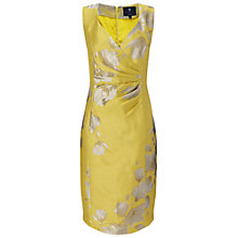 Buy Ariella Bethan Jacquard Short Dress, Yellow Online at johnlewis.com