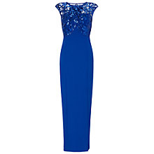 Buy Ariella Mabel Lace Wrap Bust Maxi Dress, Blue Online at johnlewis.com