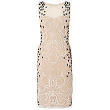 Buy Ariella Dionne Beaded Dress, Nude/Black Online at johnlewis.com