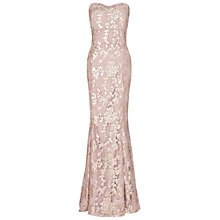 Buy Ariella Amara Sequin Maxi Dress, Gold Online at johnlewis.com