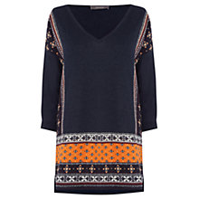 Buy Oasis Naomi Patched Jumper, Multi Blue Online at johnlewis.com