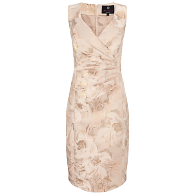 Ariella Dara Midi Jacquard Dress, Gold