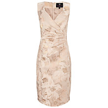 Buy Ariella Dara Midi Jacquard Dress, Gold Online at johnlewis.com
