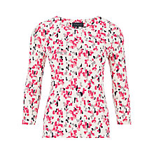 Buy Viyella Brush Print Top, Pink/White Online at johnlewis.com