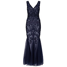 Buy Ariella Dallas Beaded Mesh Maxi Dress, Navy Online at johnlewis.com