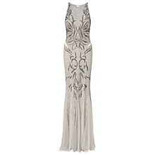 Buy Ariella Areida Beaded Long Dress, Silver Online at johnlewis.com