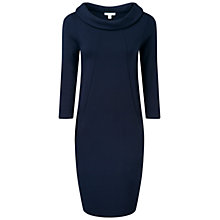 Buy Pure Collection Isabella Bardot Neck Dress, Navy Online at johnlewis.com