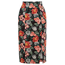 Buy Oasis Botany Print Pencil Skirt, Multi Online at johnlewis.com