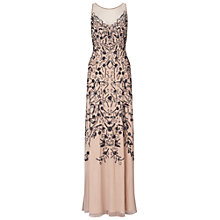 Buy Ariella Eden Beaded Mesh Dress, Nude Online at johnlewis.com