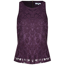 Buy True Decadence Lace Shell Top, Purple Online at johnlewis.com