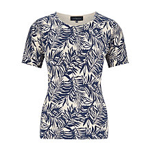 Buy Viyella Palm Print Jumper, Blue/Stone Online at johnlewis.com