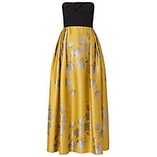 Buy Ariella Gigi Jacquard Skirt Dress, Yellow Online at johnlewis.com