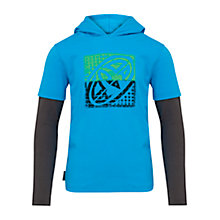 Buy Animal Boys' Finder Hooded T-Shirt, Blue Online at johnlewis.com