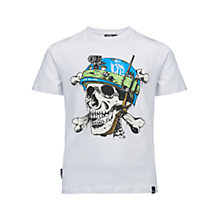 Buy Animal Boys' Rip Short Sleeve T-Shirt, White Online at johnlewis.com