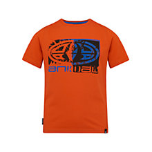 Buy Animal Boys' Hawk Short Sleeve T-Shirt, Orange Online at johnlewis.com