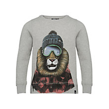 Buy Animal Boys' Lion Crew Sweatshirt, Grey Online at johnlewis.com