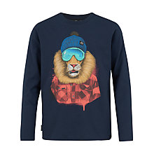 Buy Animal Boys' Long Sleeve Roar T-Shirt, Navy Online at johnlewis.com