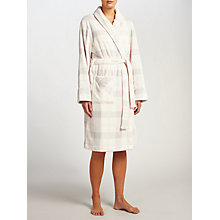 Buy John Lewis Check Print Shawl Collar Robe, Ivory/Grey Online at johnlewis.com