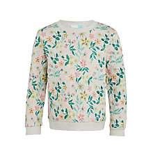 Buy John Lewis Girls' Printed Quilted Sweatshirt, Grey Multi Online at johnlewis.com