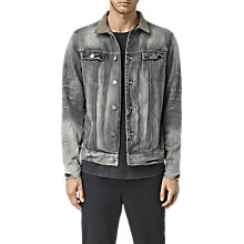 Buy AllSaints Trooper Denim Jacket, Grey Online at johnlewis.com