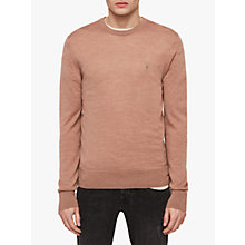 Buy AllSaints Mode Merino Crew Neck Jumper, Dusty Pink Marl Online at johnlewis.com