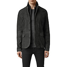Buy AllSaints Survey Leather Blazer Jacket Online at johnlewis.com