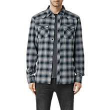 Buy AllSaints Buckfield Check Shirt, Black Online at johnlewis.com