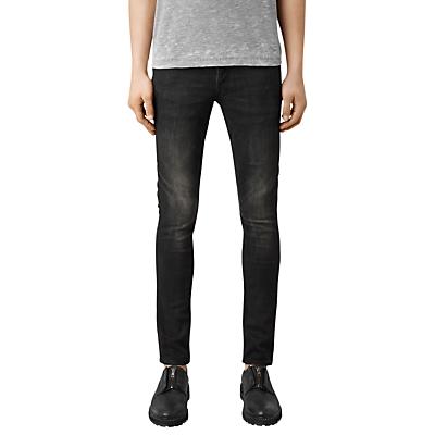 Image of AllSaints Print Cigarette Jeans, Black