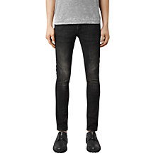 Buy AllSaints Print Cigarette Jeans, Black Online at johnlewis.com