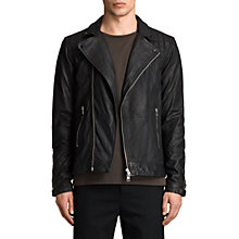 Buy AllSaints Kushiro Leather Biker Jacket, Black Online at johnlewis.com