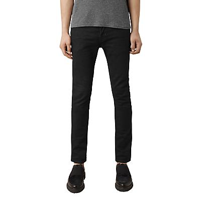 Image of AllSaints Crow Cigarette Skinny Jeans, Jet Black