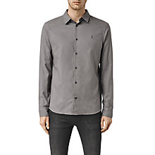 Buy AllSaints Bixby Slim Fit Shirt, Slate Grey Online at johnlewis.com