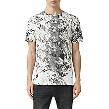 Buy AllSaints Modigli Camouflage Print T-Shirt, Chalk White Online at johnlewis.com