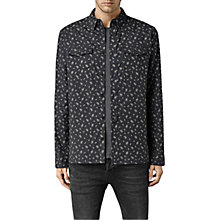 Buy AllSaints Pinehurst Long Sleeve Shirt, Black Online at johnlewis.com