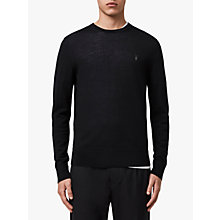 Buy AllSaints Mode Merino Crew Neck Jumper Online at johnlewis.com