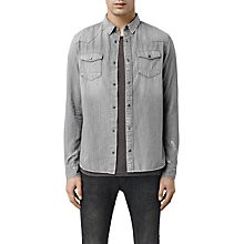 Buy AllSaints Hurst Long Sleeve Shirt Online at johnlewis.com