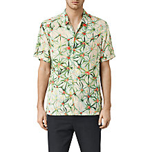 Buy AllSaints Yuka Short Sleeve Shirt, Ecru White Online at johnlewis.com